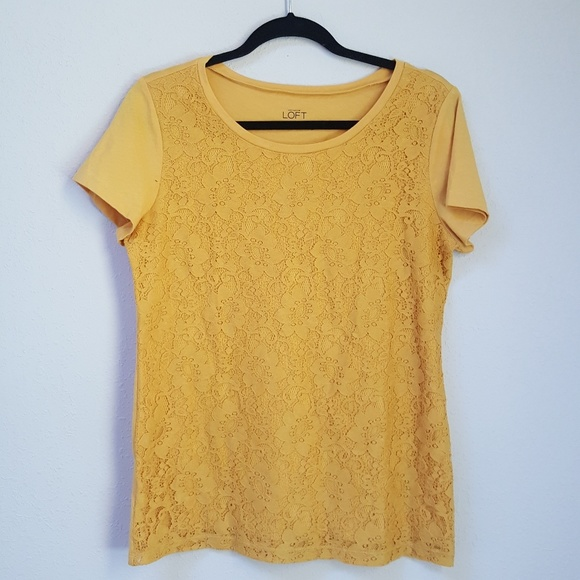 Ann Taylor LOFT Cotton Vintage Soft Shell Size Small Golden Yellow Color NWT
